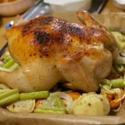 クリスマスの夜は丸焼きチキンでハーレム♡…これ、マジ @takac630のお料理アックスアックス