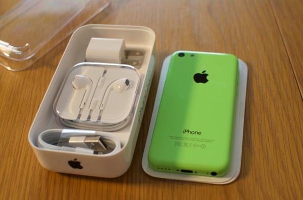 iphone5c緑一括購入