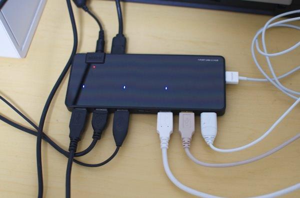 レビュー Anker「USB3.0 7+2ポート(スマホ充電)高速ハブ」