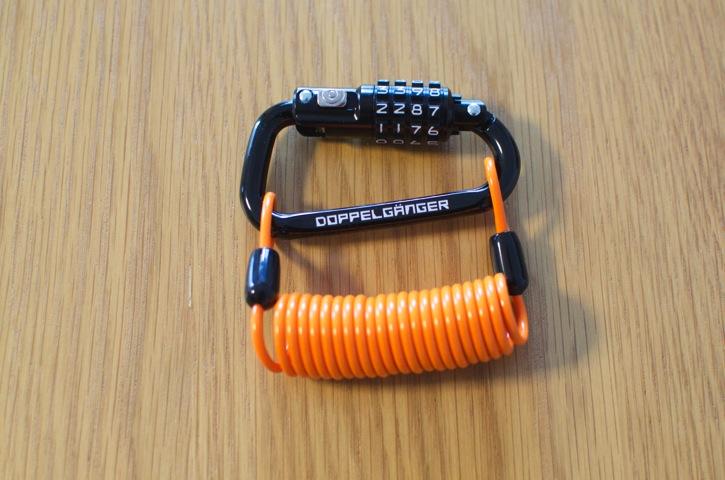 鍵いらずのカラピナ型ロック「ドッペルギャンガー DKL151」