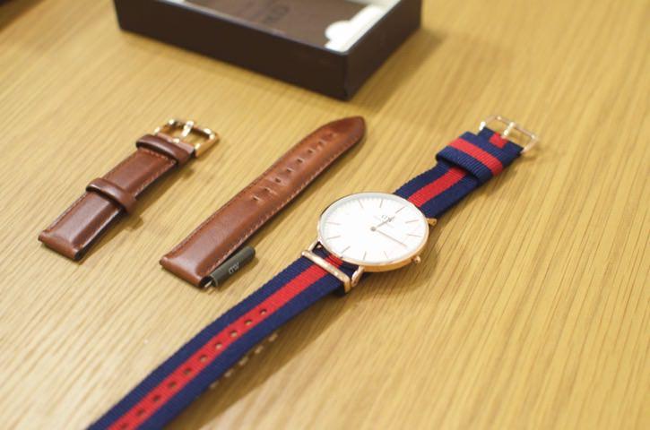 ダニエル・ウェリントンの腕時計のバンド交換方法