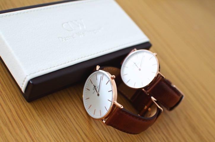 彼氏彼女のプレゼントに超オススメダニエルウェリントンの腕時計