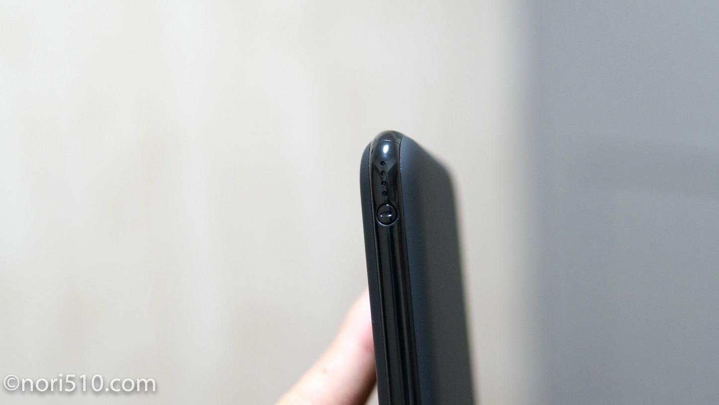逆サイドに小さいスイッチと残量表示