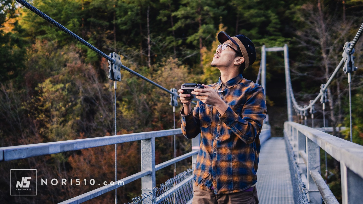 橋からドローン