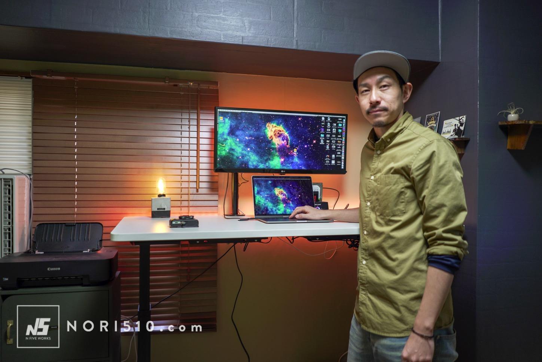 電動昇降デスク FLEXISPOTで快適スタンディング作業!