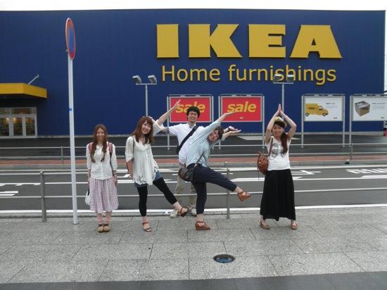 IKEAの人文字!