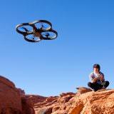 空撮キタ機体からの映像をHDで録画できるiPhone操作のラジコンヘリ「AR.Drone 2.0」