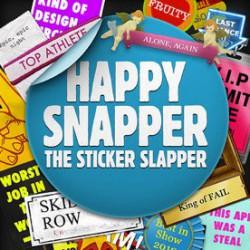 コメント付きステッカーを付加した写真が簡単につくれるアプリ「Happy Snapper」