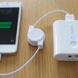 Amazonで410円iphone5のライトニング USB巻き取り式ケーブルを購入しました