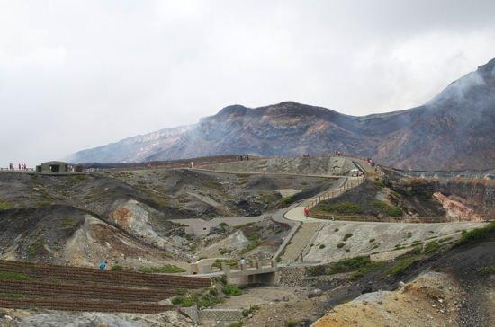 火口はまるで月面阿蘇山に行ってきました