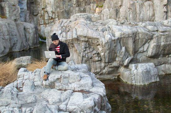 デンジャラス?「断崖絶壁ノマド」