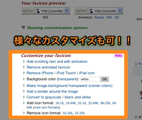 FavIcon from Pics  free favicon ico for your website  animated static text iPod icons 1
