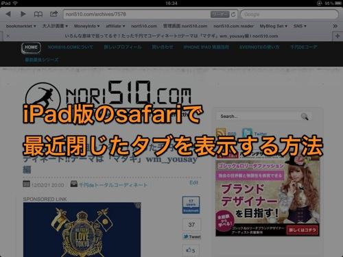 ipad safari 画面