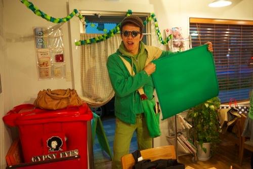 麻雀マットも緑のbeat