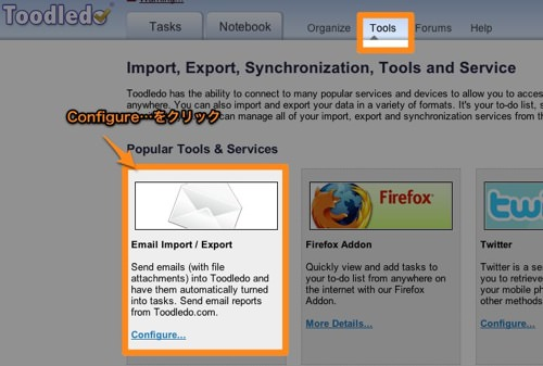 Toodledo  Import Export Synchronization Tools and Services