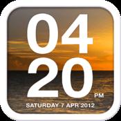 iPhoneスケスケ背景が透ける時計アプリ「Chamelon Clock」