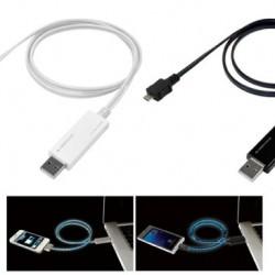 光の流れる早さで充電量がわかるiPhone用光る充電ケーブルが発売