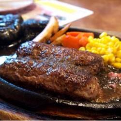 名古屋の肉がんこハンバーグ「ブロンコビリー」柳津店